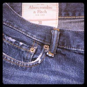 Blue Jean Frayed Mens Shorts